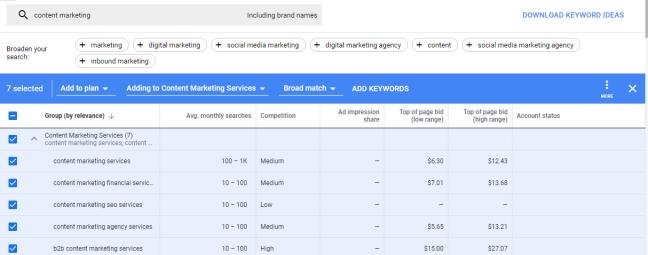 google keyword planner update