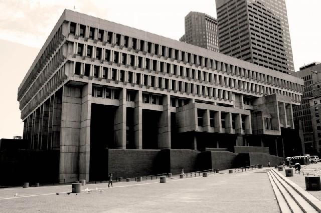 Boston City Hall Brutalist