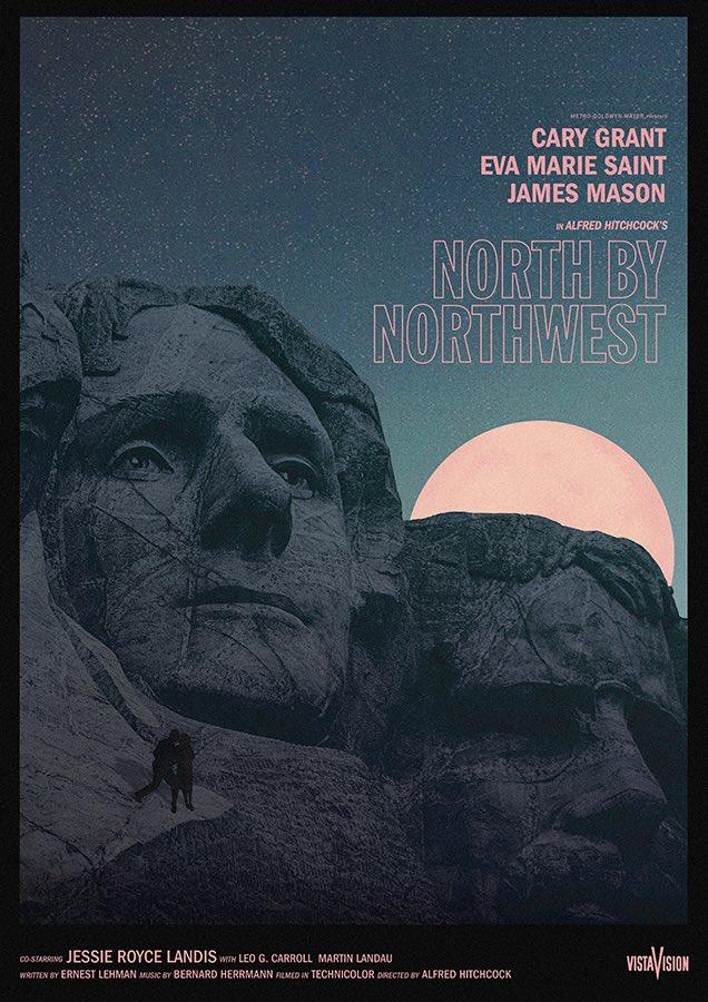 Needle Design North by Northwest movie poster