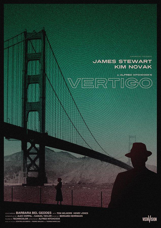 Needle Design Vertigo movie poster