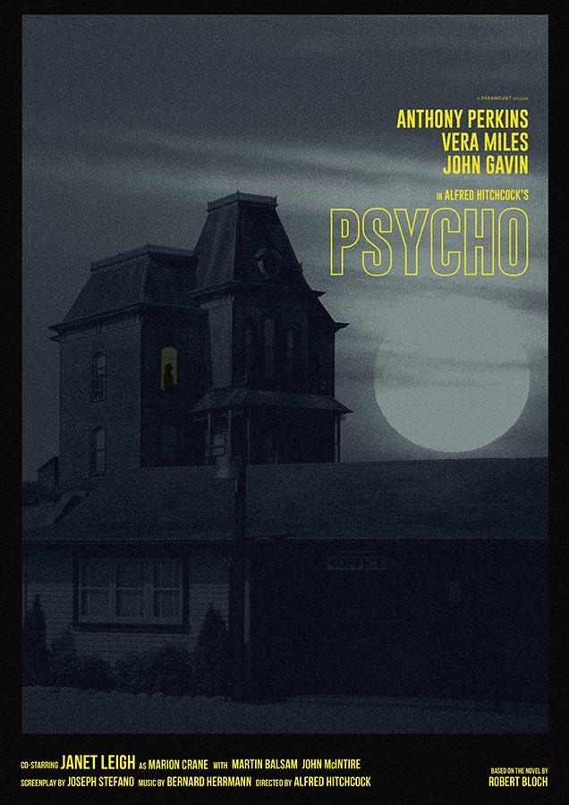 Psycho alternate movie poster